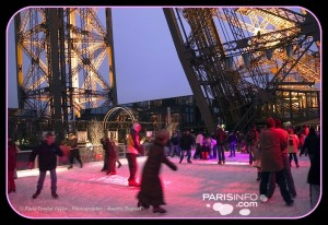 Ice Skating Eiffel Tower