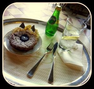 Caffe Florain chocolate lava cake
