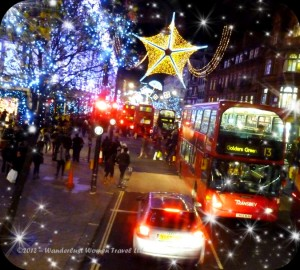 London Christmas shopping