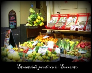 Food shopping in Sorrento