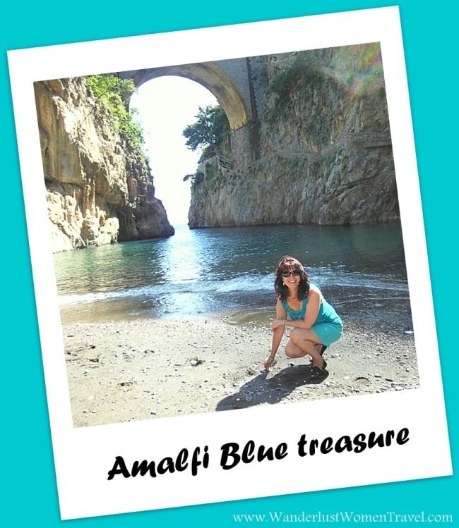 Amalfi Blue sea glass