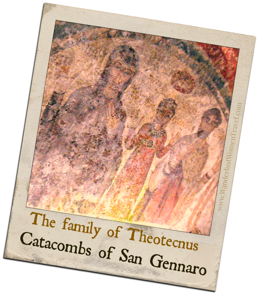 Family in Catacombs San Gennaro