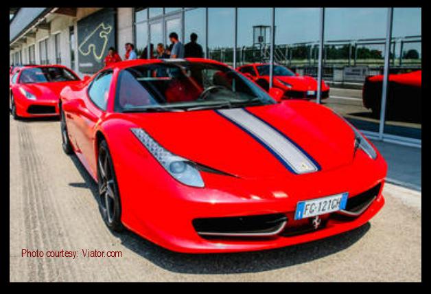 Ferrari test drive Maranello