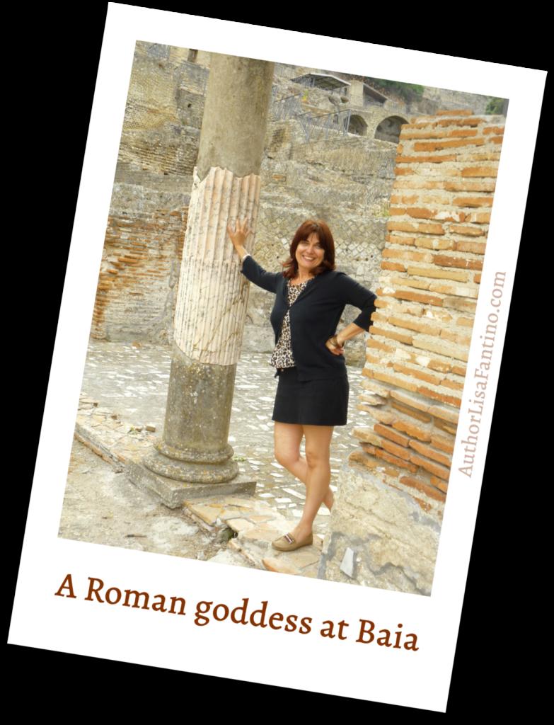 Author Lisa Fantino at Baia